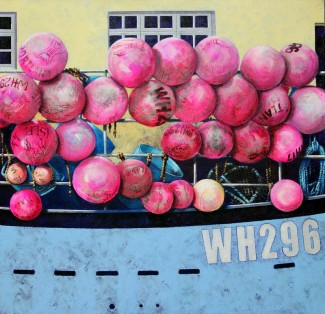Buoys in pink